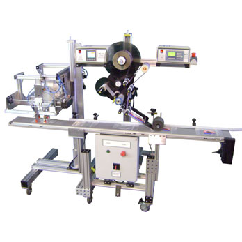 Re-Pack Top Panel Labeling System with Bag Feeder